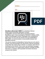 Mm Project, Blackberry