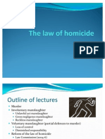 The Law of Homicide