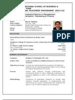 Very Final Bharat Chhabda Final Placement Resume