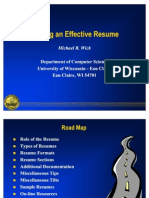 PPT Resume Example