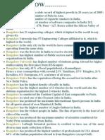 Bangalore - Fantastic Facts