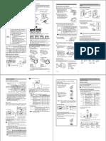 Digital CMOS Laser Sensor GV Series Instruction Manual 96M11664