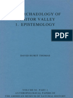 The Archaeology of Monitor Valley 1. Epistemology