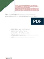 Supply Chain Management PMA