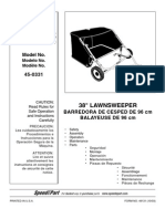 Agri Fab 38 Lawn Sweeper Manual