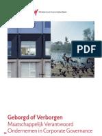 Geborgd of Verborgen Maatschappelijk Verantwoord Ondernemen in Corporate Governance