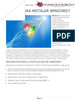 Manual Para Instalar Windows7