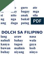 Dolch Words Sa Fil