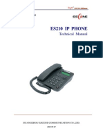 SayHi ES210 IP Phone Technical Manual 20100927