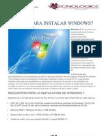 Manual Para Instalar Windows7