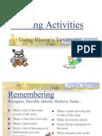 Blooms Reading Activities