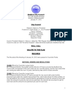 Council Agenda January 31, 2012