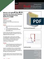 BOOTH SR40 48 Acoustic Doors Standard Frame Datasheet PD04B