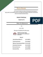 Tata Nano RMD Group 6 Proposal Final