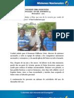 Misiones Nacionales Sincelejo Diciembre 2011
