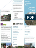 Priory Country Park Volunteer Programme 2012