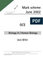 Aqa Unit 1 June 2002 Ms