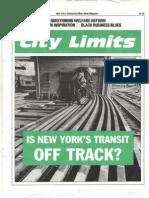 City Limits Magazine, December 1990 Issue