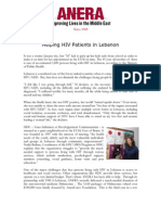 ANERA - Helping HIV Patients in Lebanon