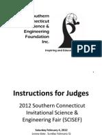 2012 SCISEF Judges Instructions