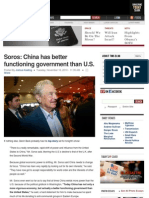 Soros China Has Better Functioning Government Than U.s-2010