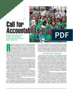Call For Accountability