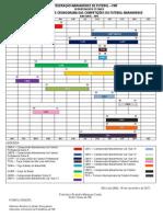 CALENDARIO E CRONOGRAMA DAS COMPETIÇÕES 2012