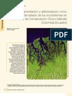 Fragmentacion y Deforestacion Como Indicadores Del Estado de Los Ecosistemas