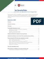 Top Cyber Security Risks September 2009