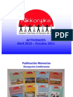 Actividades Nikkoryukai 2011