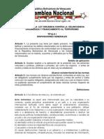 Informe para la Segunda discusión, Ley contra la Delincuencia
