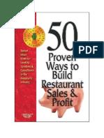 50ProvenWaysToBuildRestaurantSales&Profit