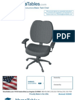 Basic Task Chair (BTC Seriers) Assembly Instructions