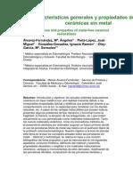 Características generales y propiedades de las cerámicas sin metal