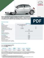 Cenník Toyota Auris HSD 2012 platný pre SR