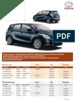 Cenník Toyota Verso 2012 platný pre SR