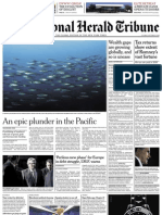 Portada Herald Tribune Europe Front Page