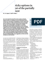 Short and Sticky Options in the Treatment of the Partially Dentate Patient