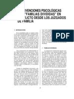 INTERVENCIONES PSICOLÓGICAS con familias dividas