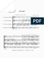Faure,Schmidt - Pavane - Saxophone Quartet - Full Score - By Odi