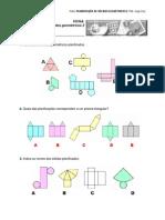 Planificações de sólidos geométricos 2