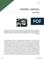 ¿ARTISTA _ CRITICO