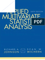 Applied Multivariate Statistical Analysis 6th Edition