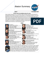 Space Shuttle Endeavour STS-126 Mission Fact Sheet