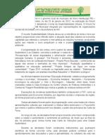 Carta de Intenções para uma Cidade Sustentável - FST Novo Hamburgo