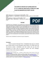 FLEXIBILIDADE DE ALUNOS ATÉ 10 ANOS