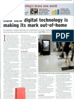 How new digital technology is making its mark out-of-home.