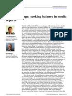 Climate Change Seeking Balance in Media Reports