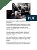 la probreza atrapa a la clase media Europea Cáritas 2012