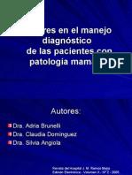 Errores en El Diagnòstico de Las Pacientes Con Patologìa Mamaria